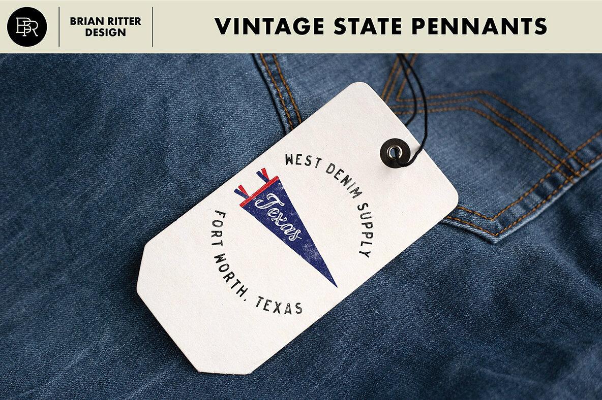 Vintage State Pennants
