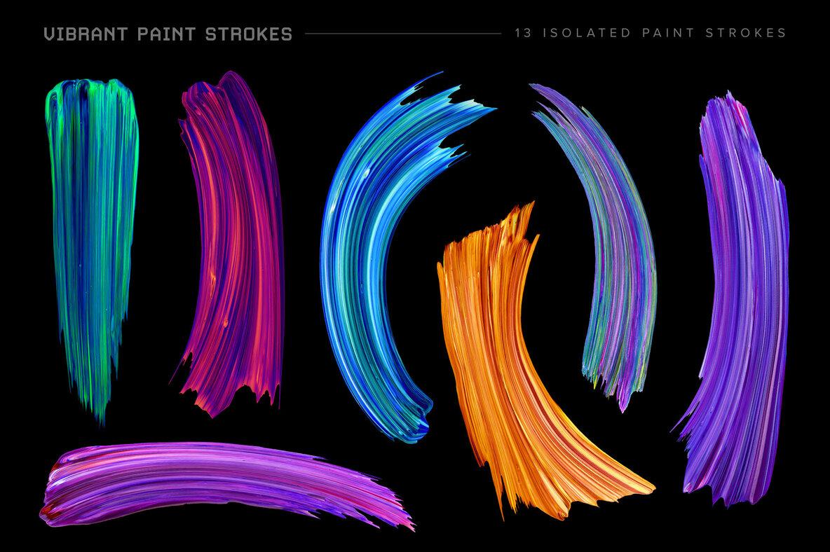 Vibrant Paint Strokes Bundle