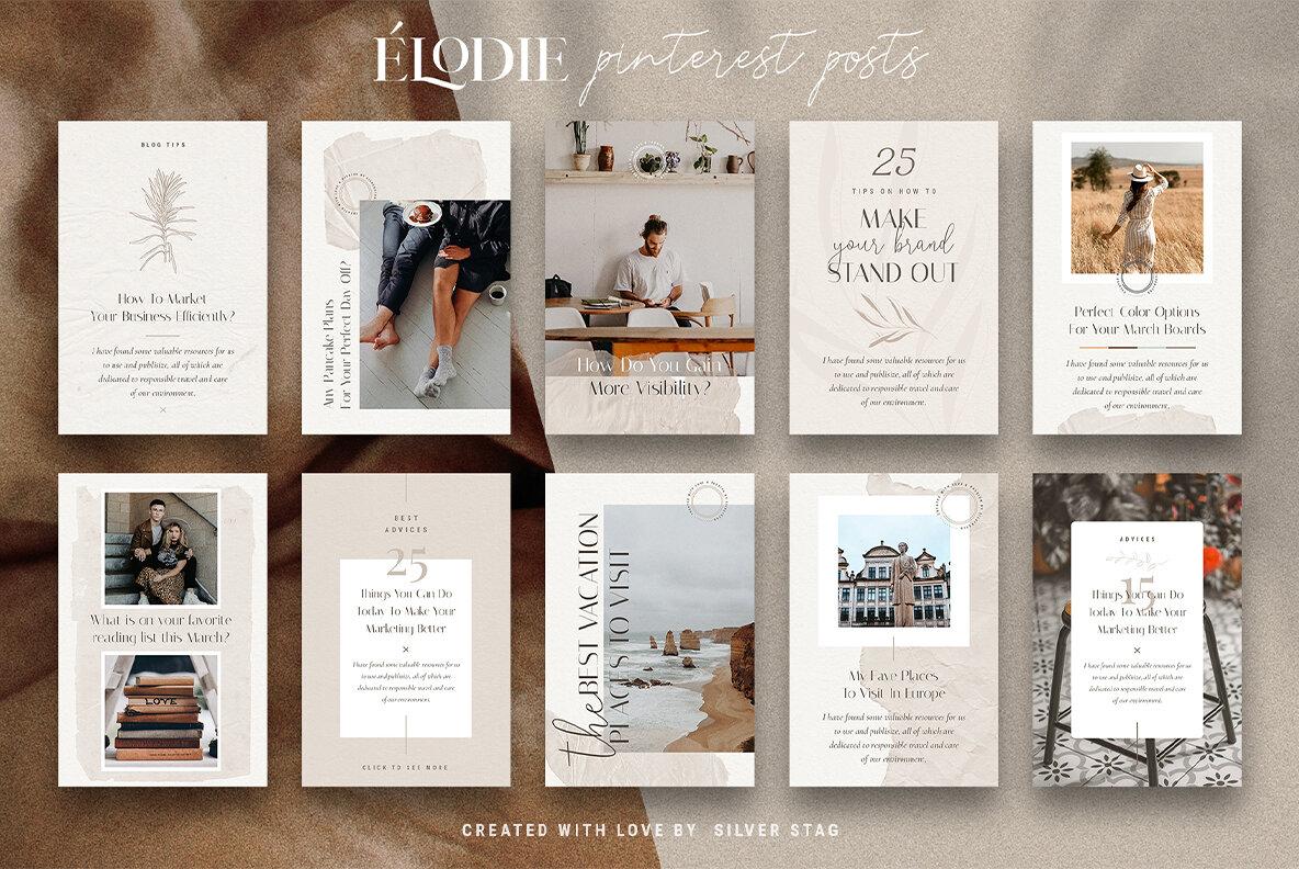 Elodie   Pinterest Post Templates
