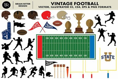 Vintage Football Vector Graphics