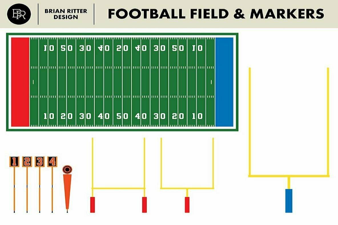 Vintage Football Vector Graphics