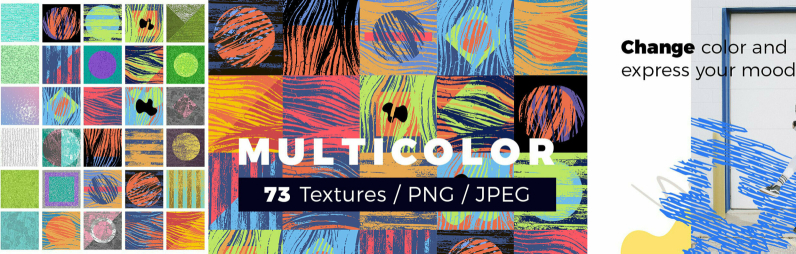 Multicolor Abstract Painted Textures