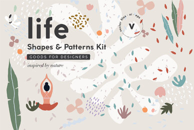Life Organic Shapes  Patterns Kit
