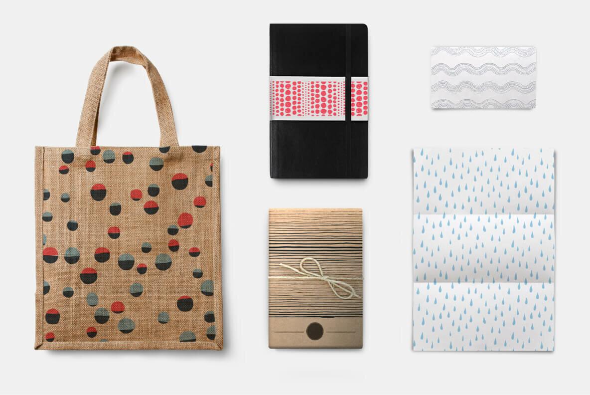 100 HandDrawn Patterns Bundle