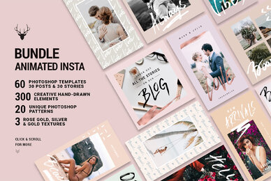 Mini Bundle Animated Instagram Rose Gold Pack