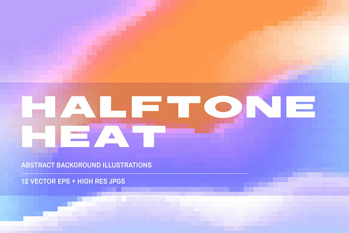 Halftone Heat   Abstract Backgrounds