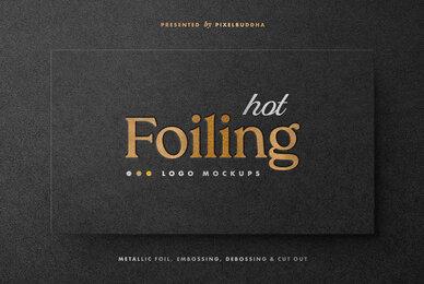 Hot Foil Logo Mockups