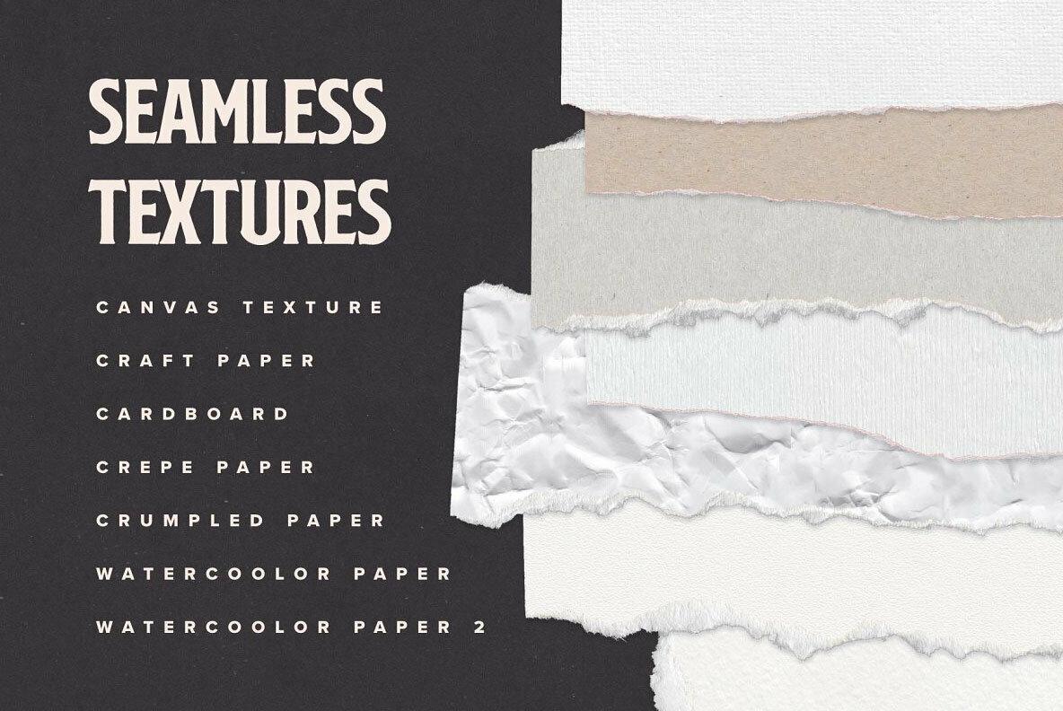 Torn Paper Cliparts   Mockups