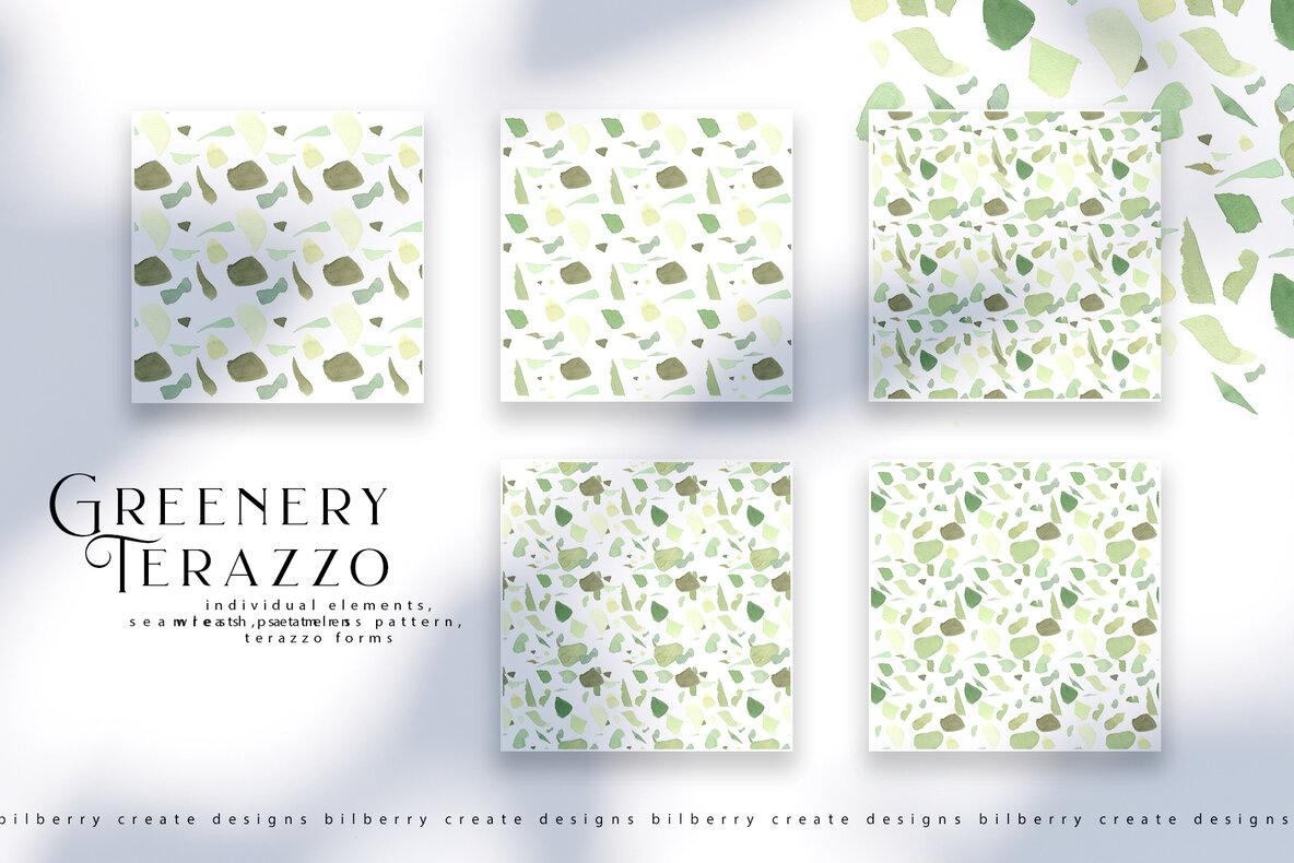 Greenery Terrazzo