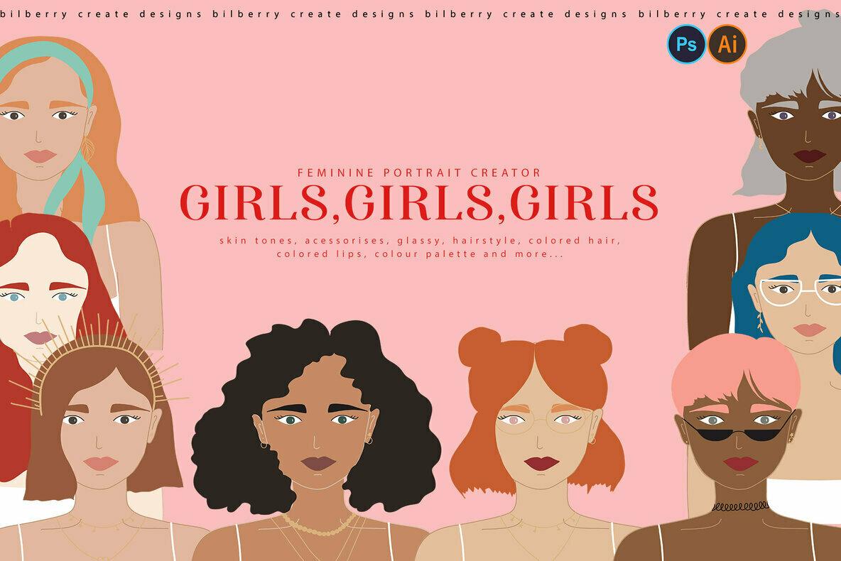 Girls  Girls  Girls Portrait Creator