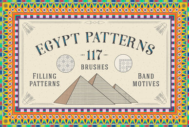 117 Egypt Patterns Brushes  Swatches