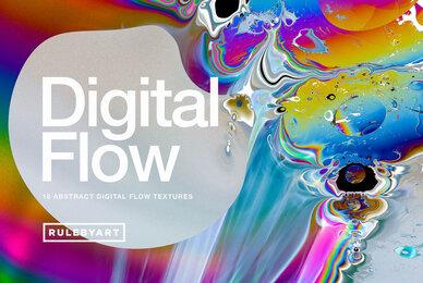 Digital Flow Abstract Textures