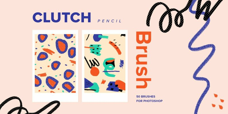 Clutch Pencil Brushes for Photoshop