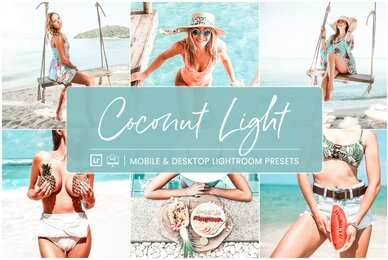 Coconut Light   Mobile  Desktop Lightroom Presets