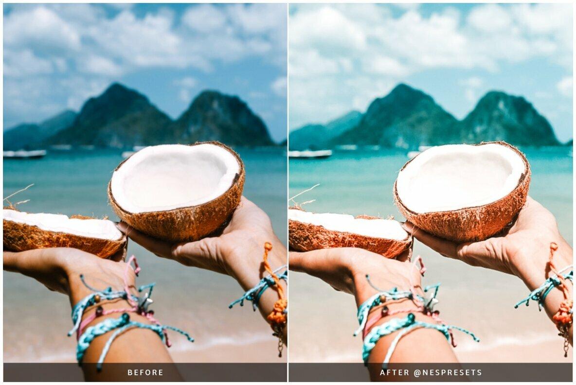 Coconut Light   Mobile   Desktop Lightroom Presets