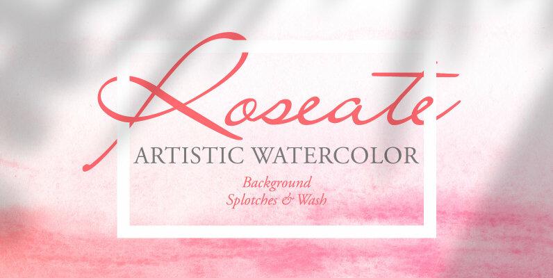 Roseate Artistic Watercolor