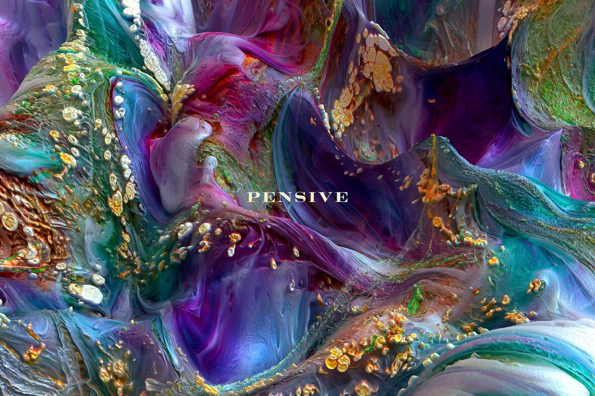 Pensive     Experimental 3D Paint Textures