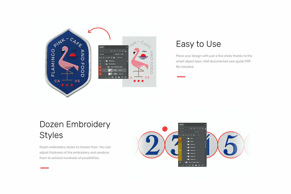 Patch Mockups and Embroidery Generator