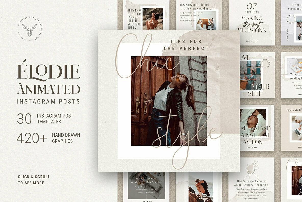 Elodie   Animated Instagram Post Templates