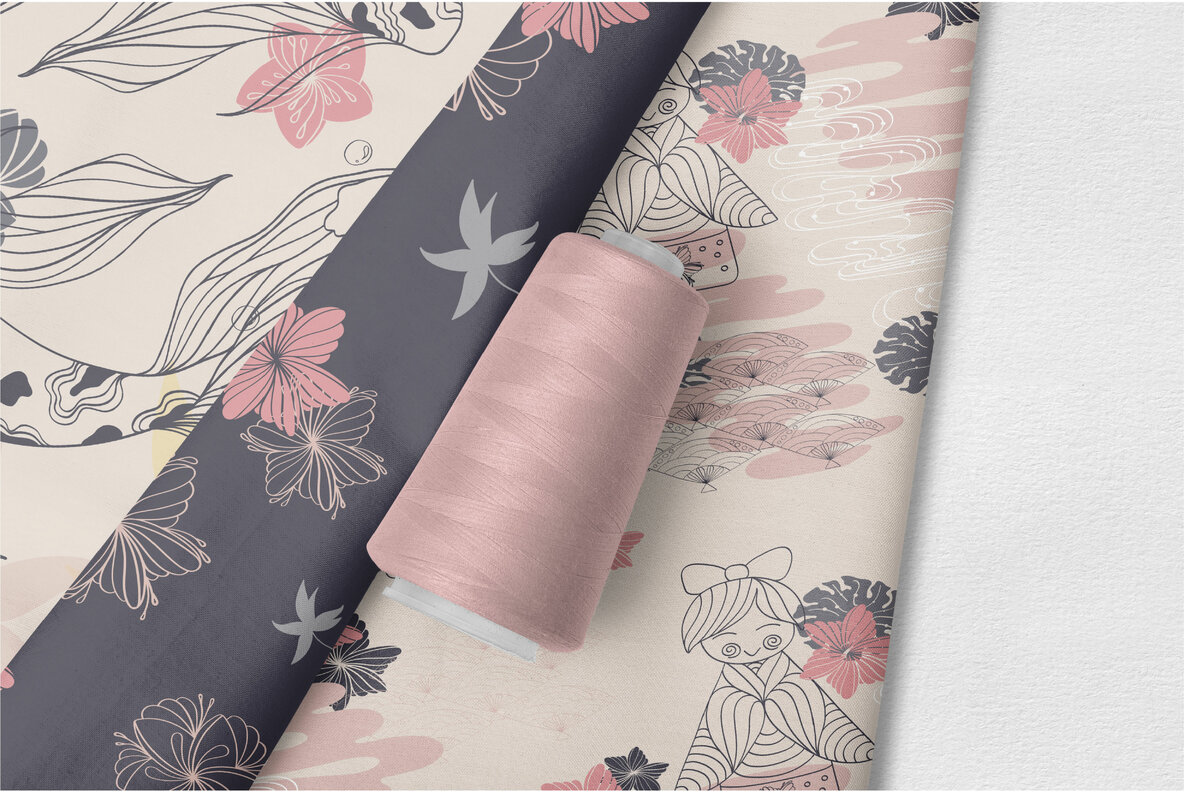 Line art Japanese Pattern Collection
