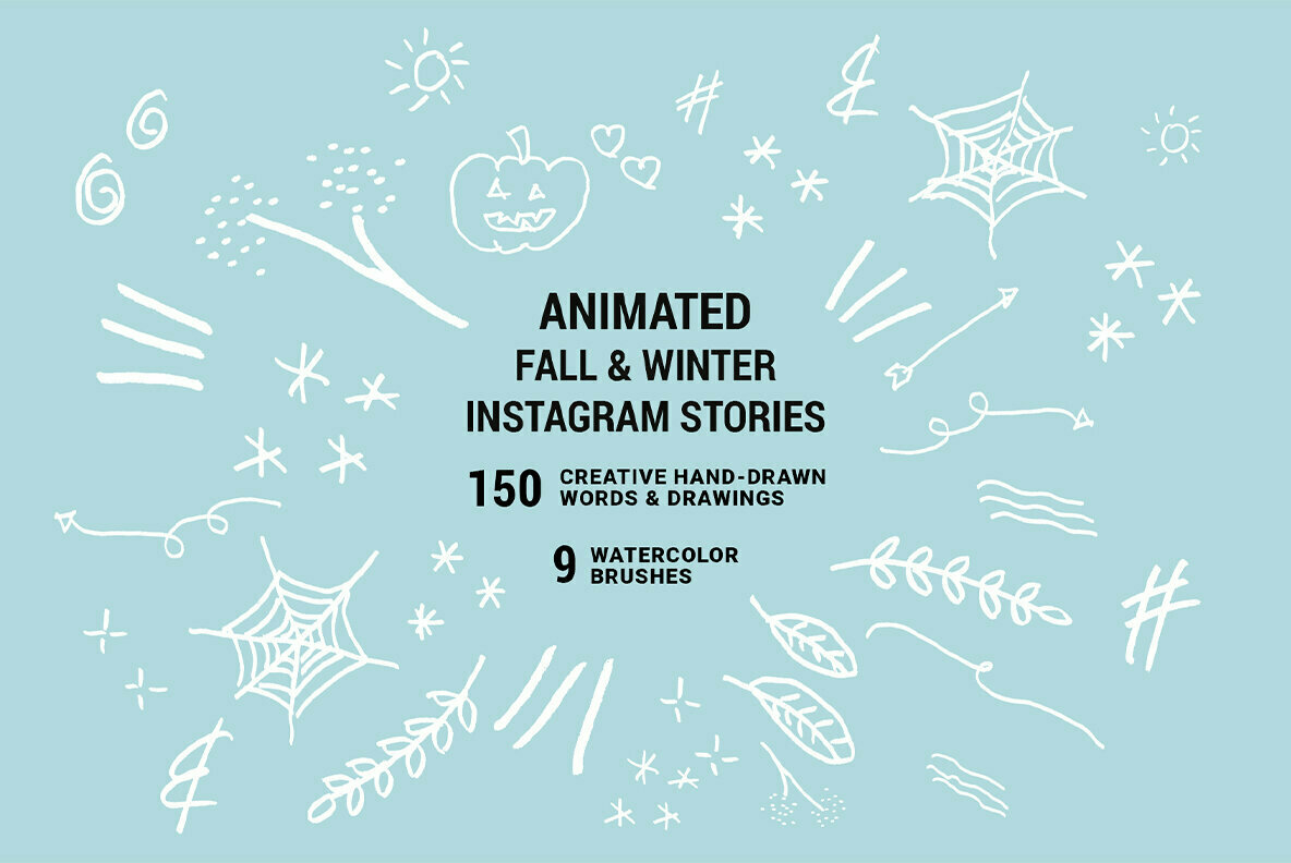Fall   Winter Animated Instagram Stories