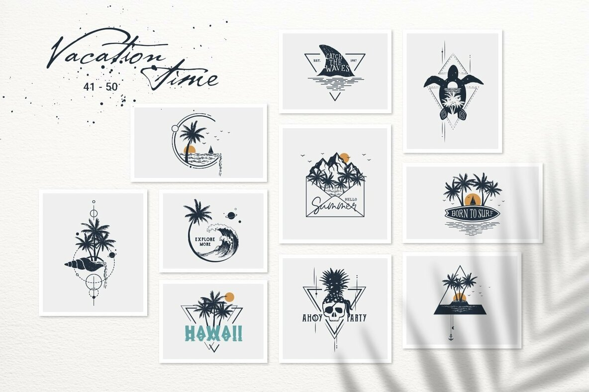 50 Logos   Badges   Vacation Time