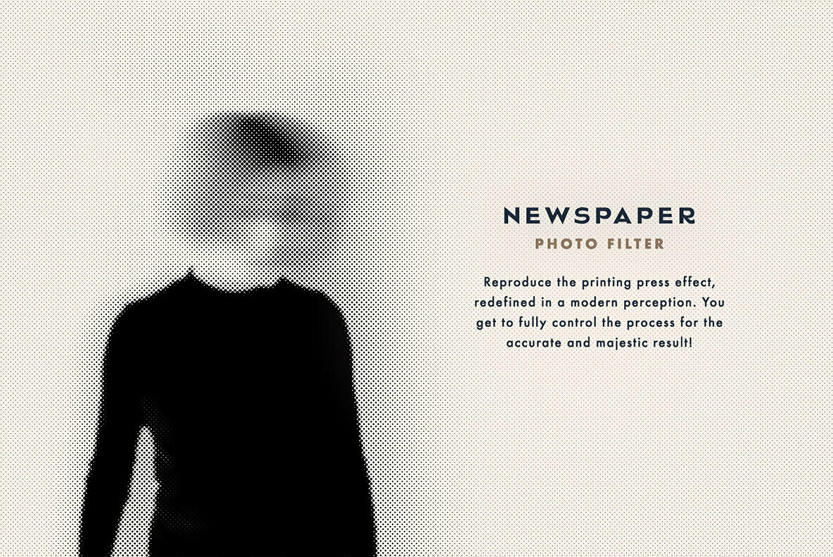 Newspaper Halftone Photoshop Effect