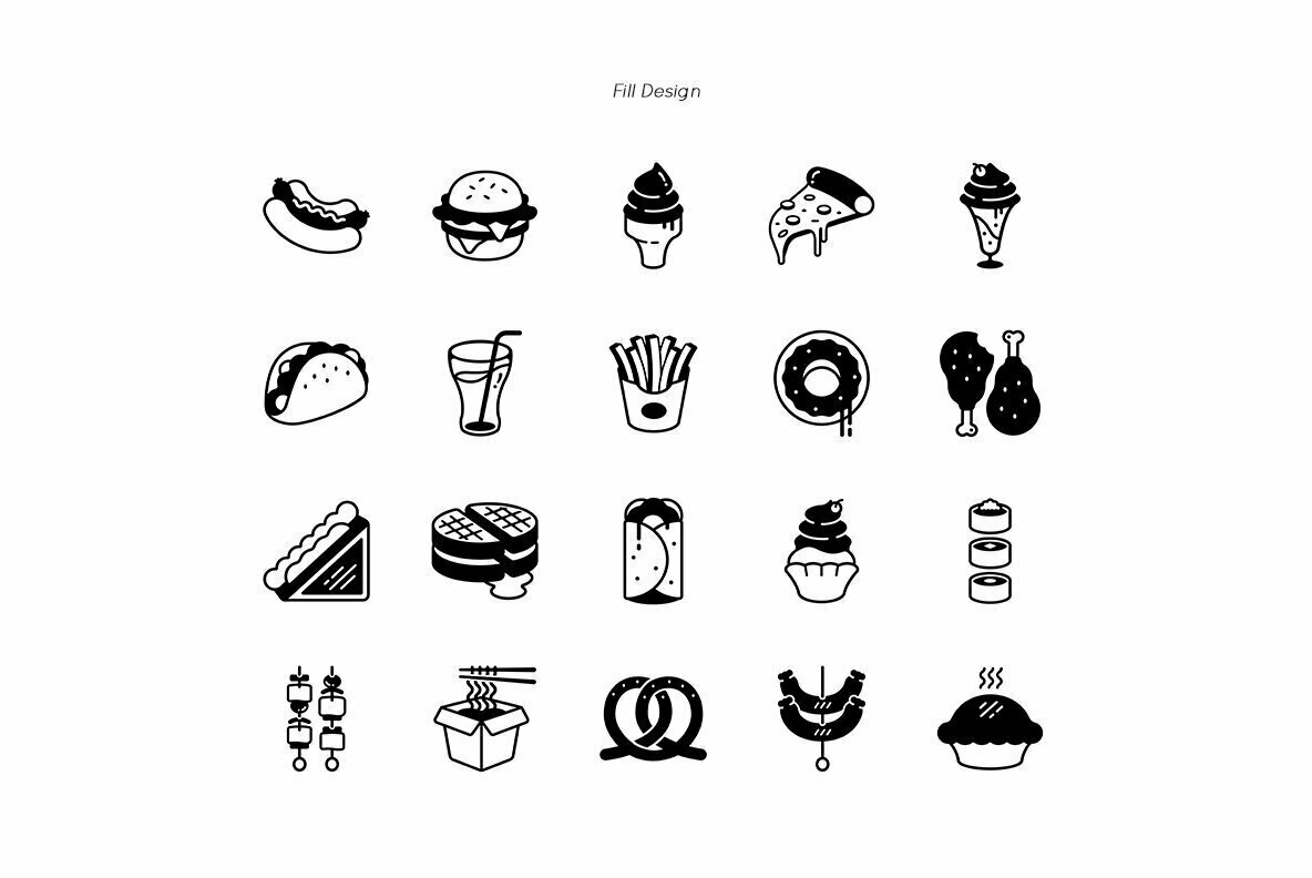 Fast Food Premium Icon Pack