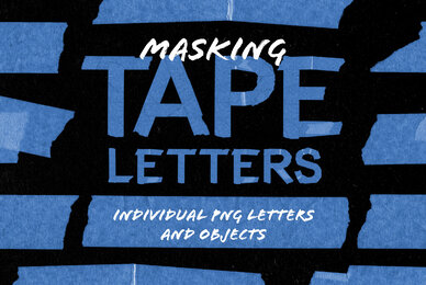Masking Tape Letters  Objects