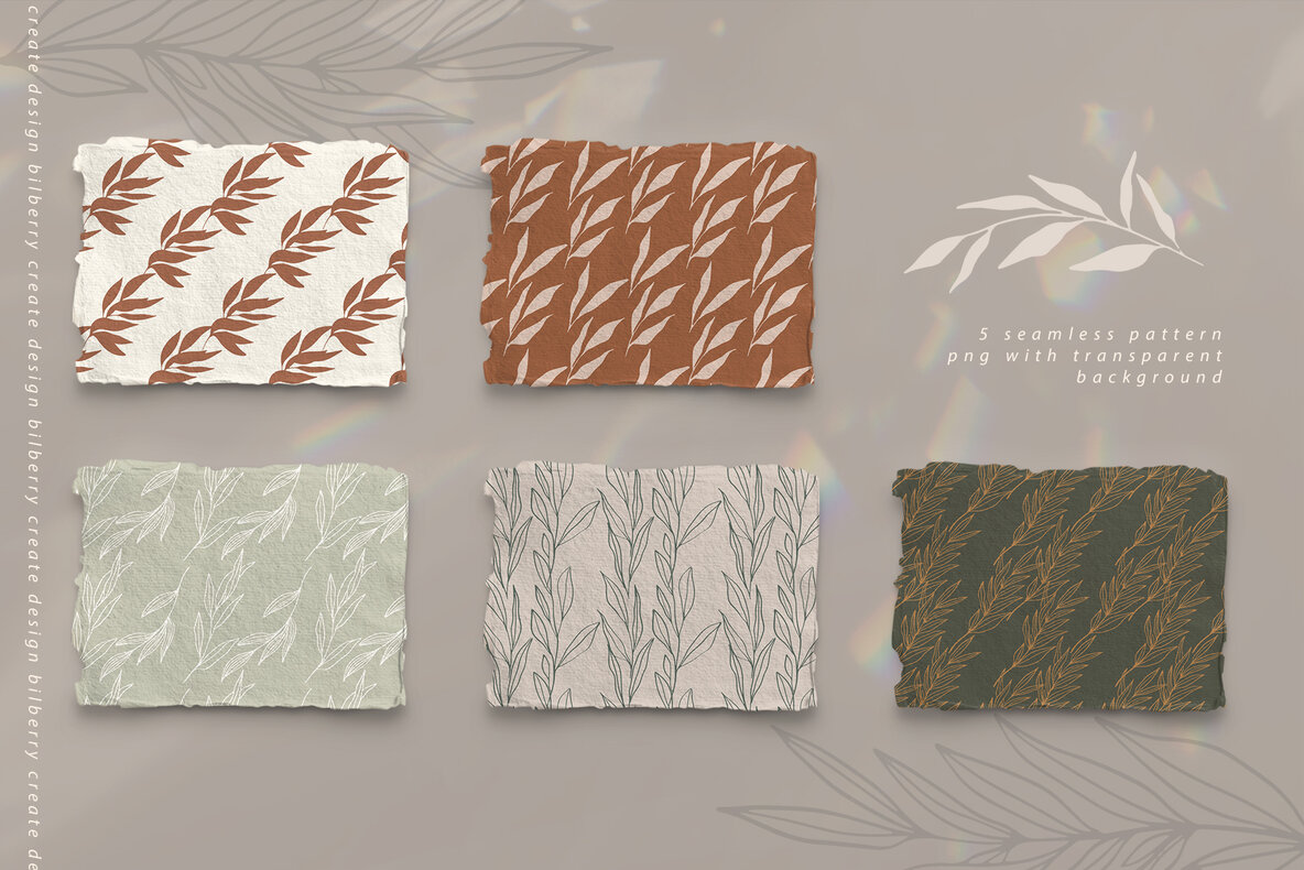 Trendy Florals Graphic Art Set