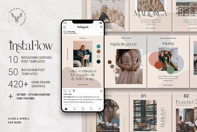InstaFlow   Instagram Carousel Post Templates