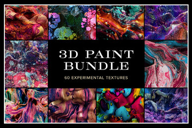 3D Paint Bundle     60 Experimental Textures