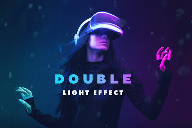 Double Light Photoshop Effect