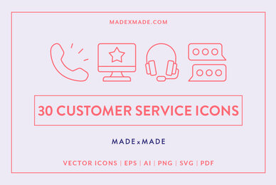 Line Icons     Customer Service