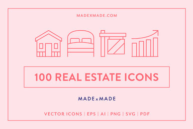 Line Icons     Real Estate