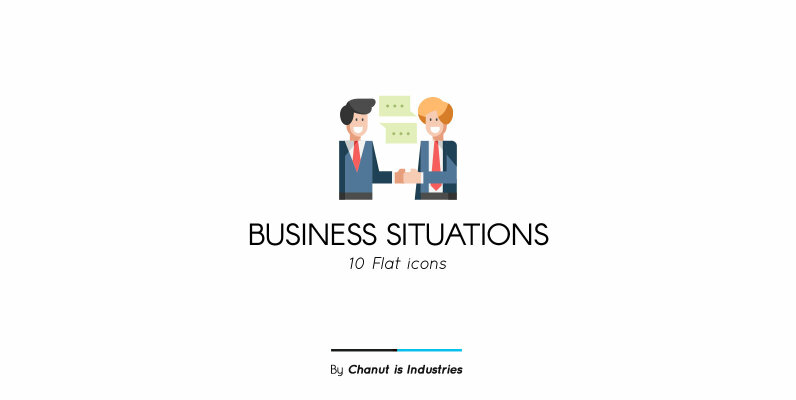 Business Situations Premium Icon Pack