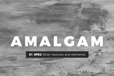 AMALGAM   Silver Foil Textures and Abstract Paint Backgrounds