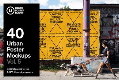 Urban Poster Mockup VOL 5