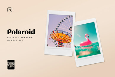 Polaroid Snapshot Picture Mock up Templates
