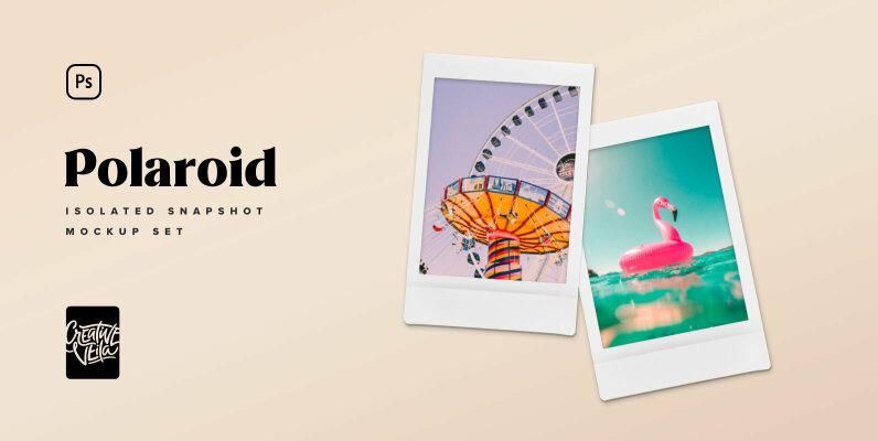 Polaroid Snapshot Picture Mock up Templates