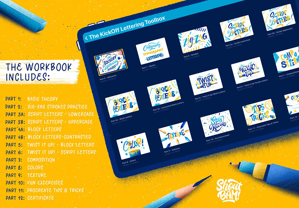 The KickOff Lettering Toolbox