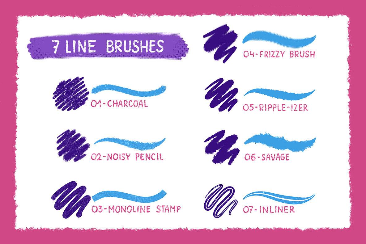 Rough   Raw Brush Set