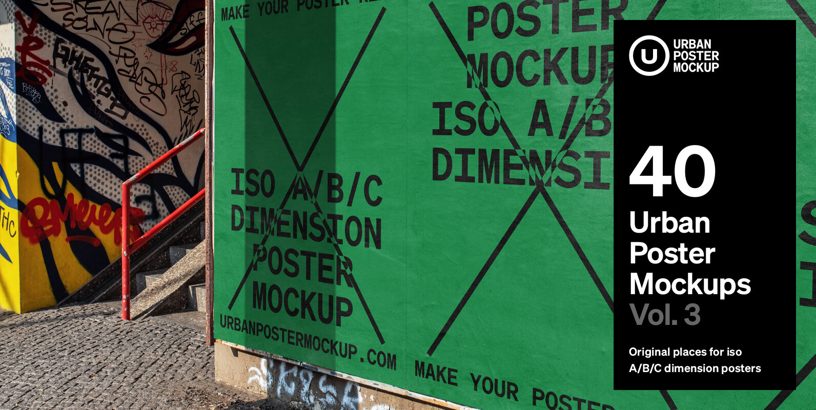 Urban Poster Mockup Vol.3