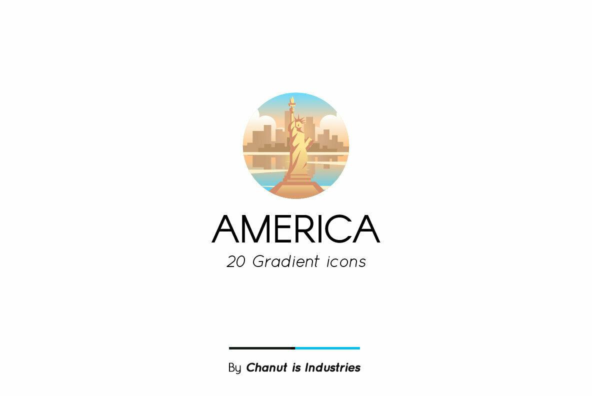 America Premium Icon Pack