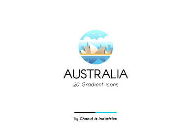 Australia Element Premium Icon Pack