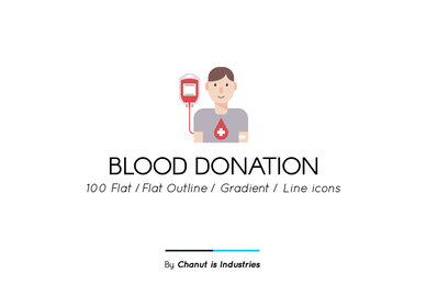 Blood Donation Premium Icon Pack