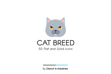 Cat Breed Premium Icon Pack