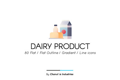 Dairy Product Premium Icon Pack