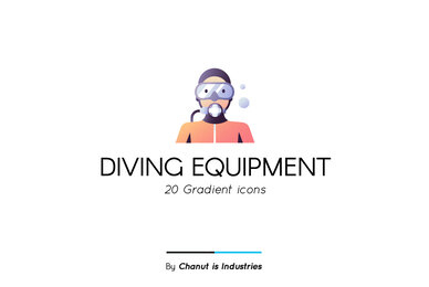 Diving Equipment Premium Icon Pack