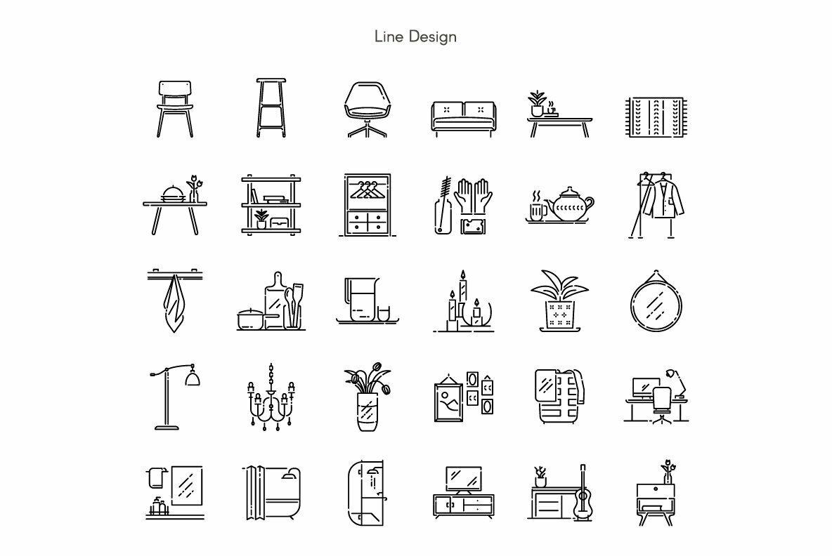 Home Decoration Premium Icon Pack